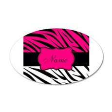 Pink Black Zebra Personalized Wall Decal