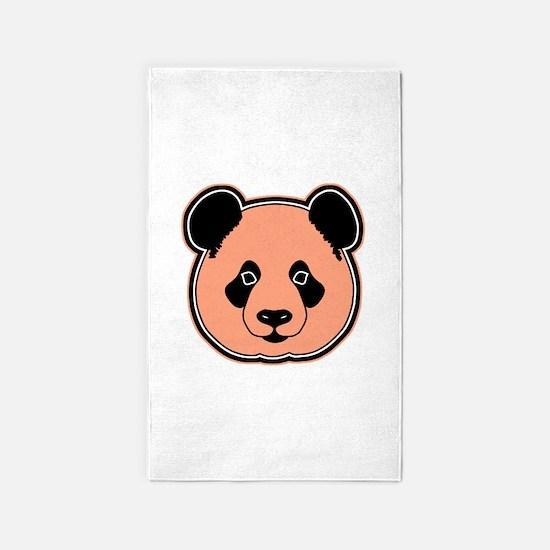 panda head peach 3'x5' Area Rug