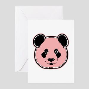 panda head melon Greeting Card