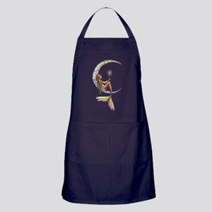 Mermaid Moon Fantasy Art Apron (dark)