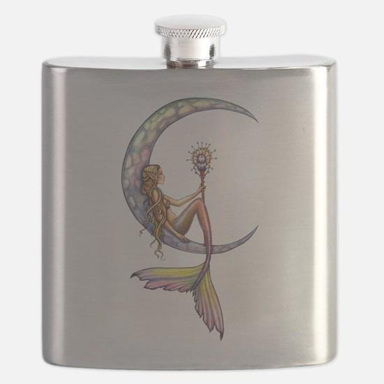 Mermaid Moon Fantasy Art Flask