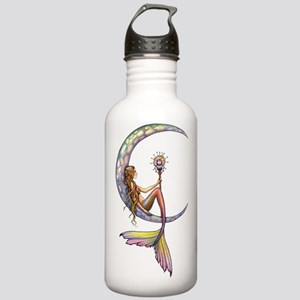 Mermaid Moon Fantasy Art Water Bottle