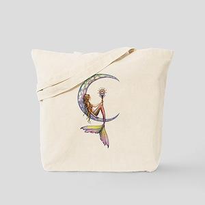 Mermaid Moon Fantasy Art Tote Bag