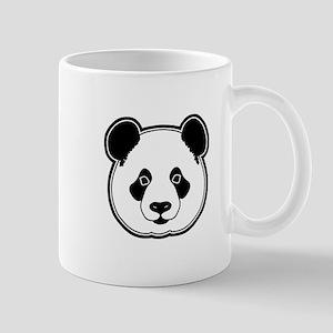 panda head white black Mug