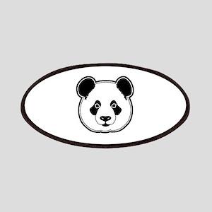 panda head white black Patches