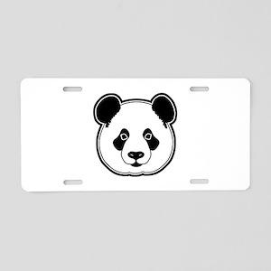 panda head white black Aluminum License Plate