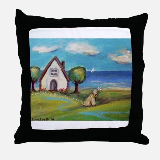 Soft Coated Wheaten Terrier Summer Cottage Throw P