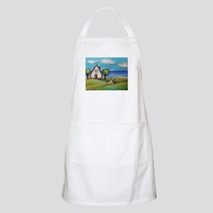 Soft Coated Wheaten Terrier Summer Cottage Apron