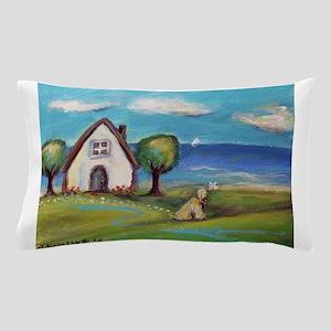 Soft Coated Wheaten Terrier Summer Cottage Pillow