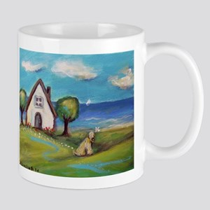 Soft Coated Wheaten Terrier Summer Cottage Mugs