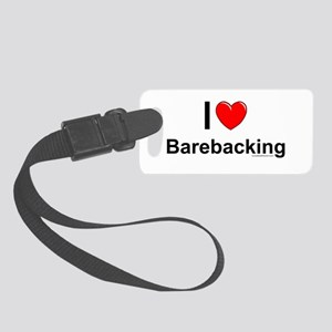 Barebacking Small Luggage Tag