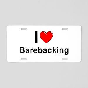 Barebacking Aluminum License Plate