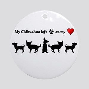 My Chihuahua left Footprints on my Heart humorous
