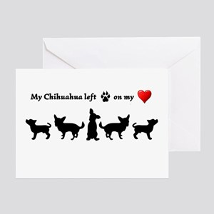 My Chihuahua Left Footprints On Greeting Cards