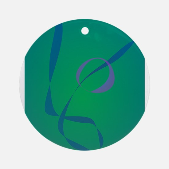 Abstract Rabbit Green Ornament (Round)