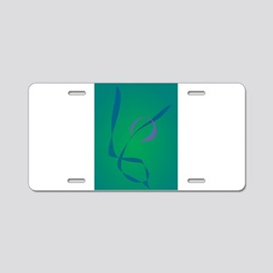 Abstract Rabbit Green Aluminum License Plate