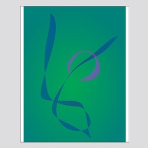 Abstract Rabbit Green Posters