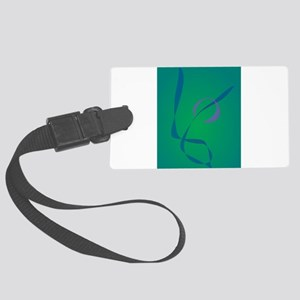 Abstract Rabbit Green Luggage Tag