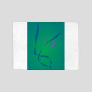 Abstract Rabbit Green 5'x7'Area Rug