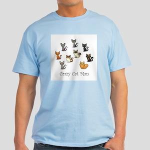 Crazy Cat Man T-Shirt T-Shirt