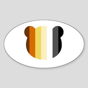 Bear Pride Head Sticker (Oval)