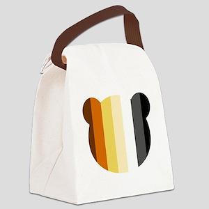 Bear Pride Head Canvas Lunch Bag