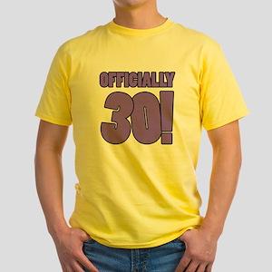 30th Birthday Humor Yellow T-Shirt