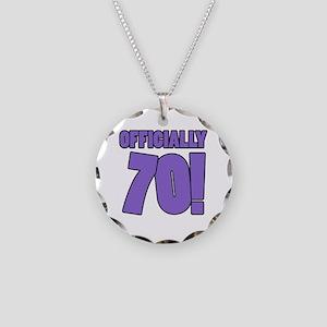 70th Birthday Humor Necklace Circle Charm