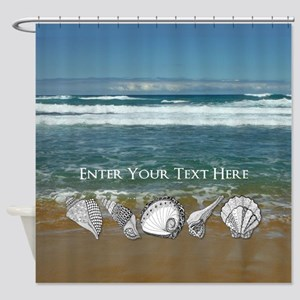 Original Seashell Customizable Art Shower Curtain