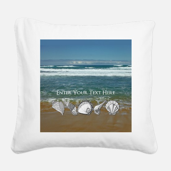 Original Seashell Customizabl Square Canvas Pillow