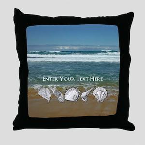 Original Seashell Customizable Art Throw Pillow