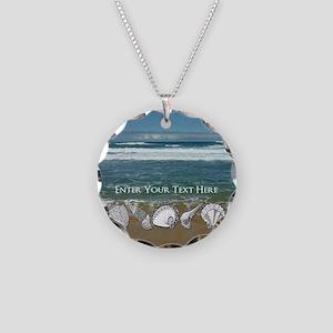 Original Seashell Customizab Necklace Circle Charm