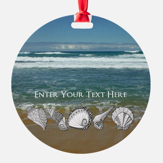 Original Seashell Customizable Art Ornament