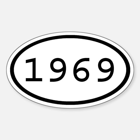 1969 Oval Oval Decal
