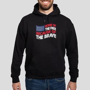 Home Of The Free Because Brave Hoodie (dark)