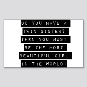 Twin Sister Quotes | Twin Sisters Quotes Rectangle Stickers Cafepress
