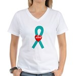 Teal Hope Women's V-Neck T-Shirt