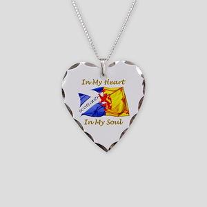 In My Heart Scotland Darks Necklace Heart Charm