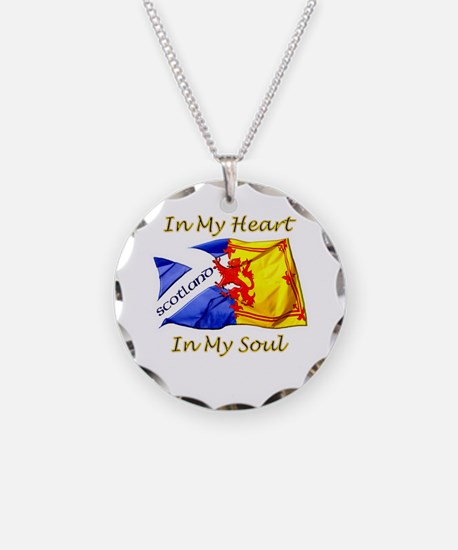 In My Heart Scotland Darks Necklace Circle Charm