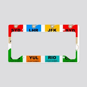 Airport city codes License Plate Holder