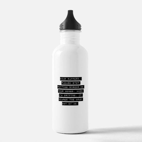 Dear Rappers Water Bottle