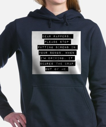 Dear Rappers Women's Hooded Sweatshirt