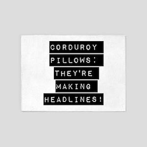Corduroy Pillows 5'x7'Area Rug