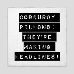 Corduroy Pillows Queen Duvet