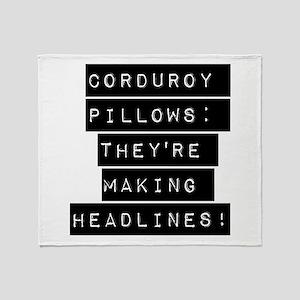 Corduroy Pillows Throw Blanket