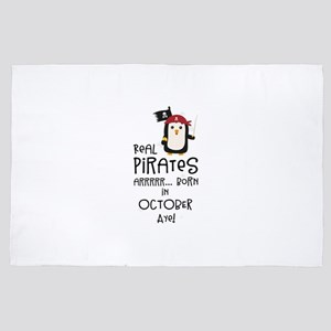 Real Pirates are born in OCTOBER 4' x 6' Rug