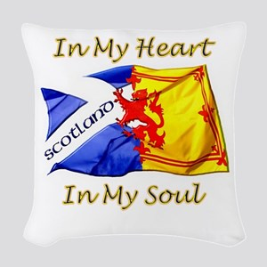 In My Heart Scotland Darks Woven Throw Pillow