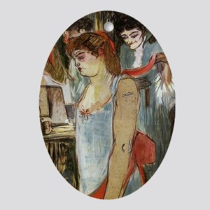 Toulouse-Lautrec - The Tattooed Woma Oval Ornament