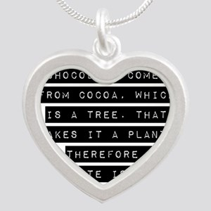 Chocolate Comes From Cocoa Necklaces