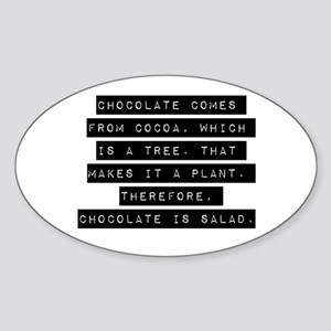 Chocolate Comes From Cocoa Sticker